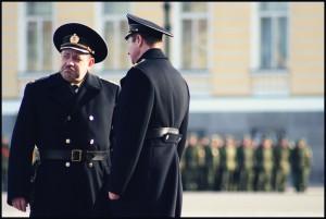 military men talking- small